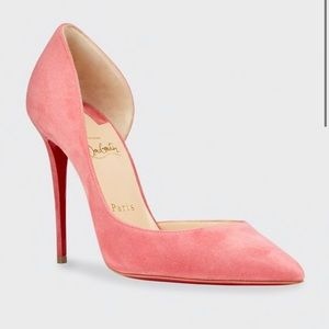 Louboutin Iriza 100 d'Orsay pumps Pink Suede 37